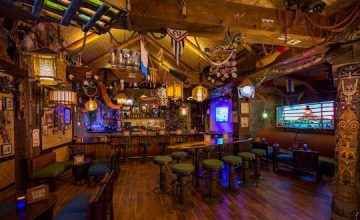 What Do You Get when You Take a Nautical Themed Pub, Add Mechanical Giant Squid Tentacles, Diving Equipment, Aquatic Accents, Collectible Tiki-style Tumblers Vessels, and of Course Some Magic? Only…