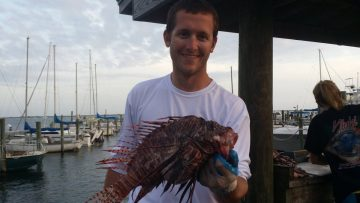 Weighing in at 2.38 Lbs and 16.5-inches in Length, Alex Fogg's Record Lionfish Catch Has Him Tied with Barry Shively for First Place for the Largest of the Invasive Species…