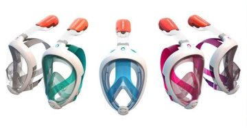 The Tribord Easybreath Snorkeling Mask Facilitates Normal Breathing While Underwater