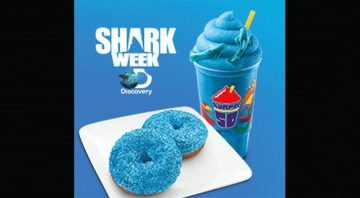 Shark Week Fanatics Swim In Droves to 7-eleven For Collector Cup Chum...errr Fun!