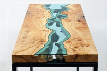 Furniture Maker Greg Klassen Builds Intricately Designed Tables and Other Objects Embedded with Glass Rivers and Lakes. Inspired by His Surroundings in the Pacific Northwest, Klassen Works with Edge Pieces…